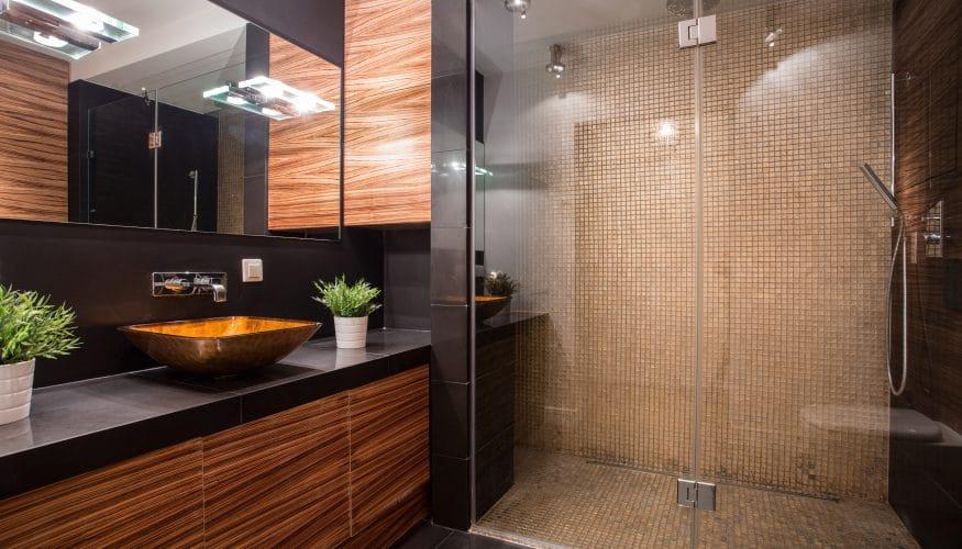 Badezimmer Ideen Modernes Bad Gestalten Glasdusche Schwarz
