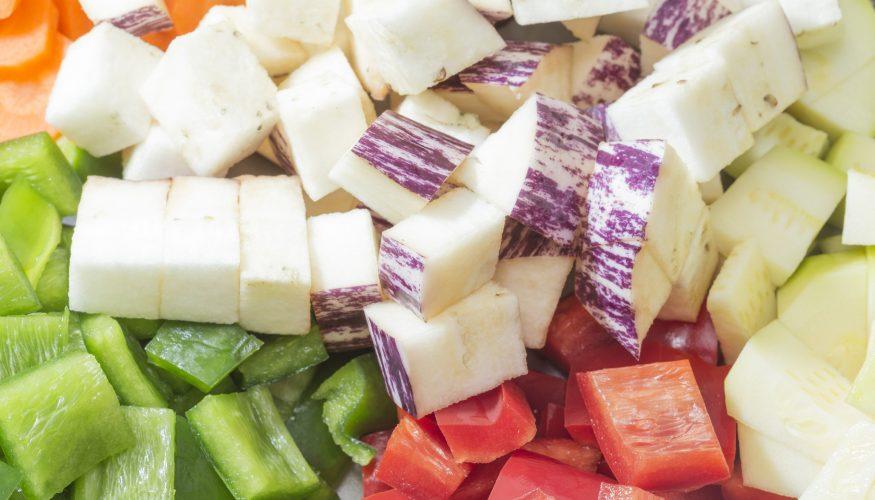 Obst und Gemüse sekundenschnell zerkleinern