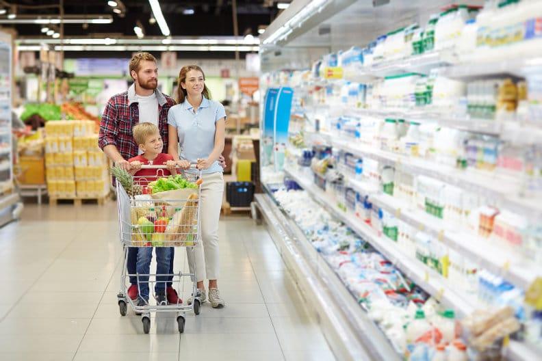 Lebensmittel aus der letzten Reihe kaufen!