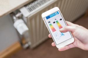 Temperaturregelung auf dem Smartphone