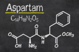 Chemische Formel von Aspartam