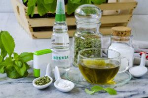 Stevia in verschiedenen Dareichungsformen