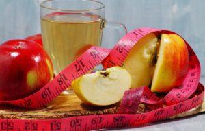 Apfelessig zum Abnehmen, Äpfelund ein Maßband