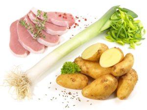 Fleisch, Sellerie und Kartoffeln