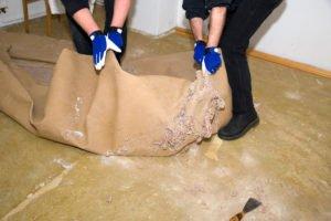 geklebten Teppich entfernen