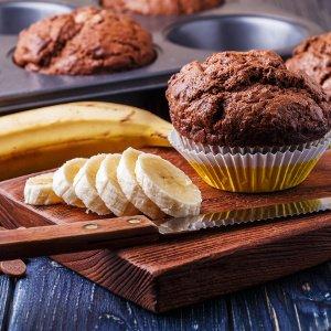 muffins und banane