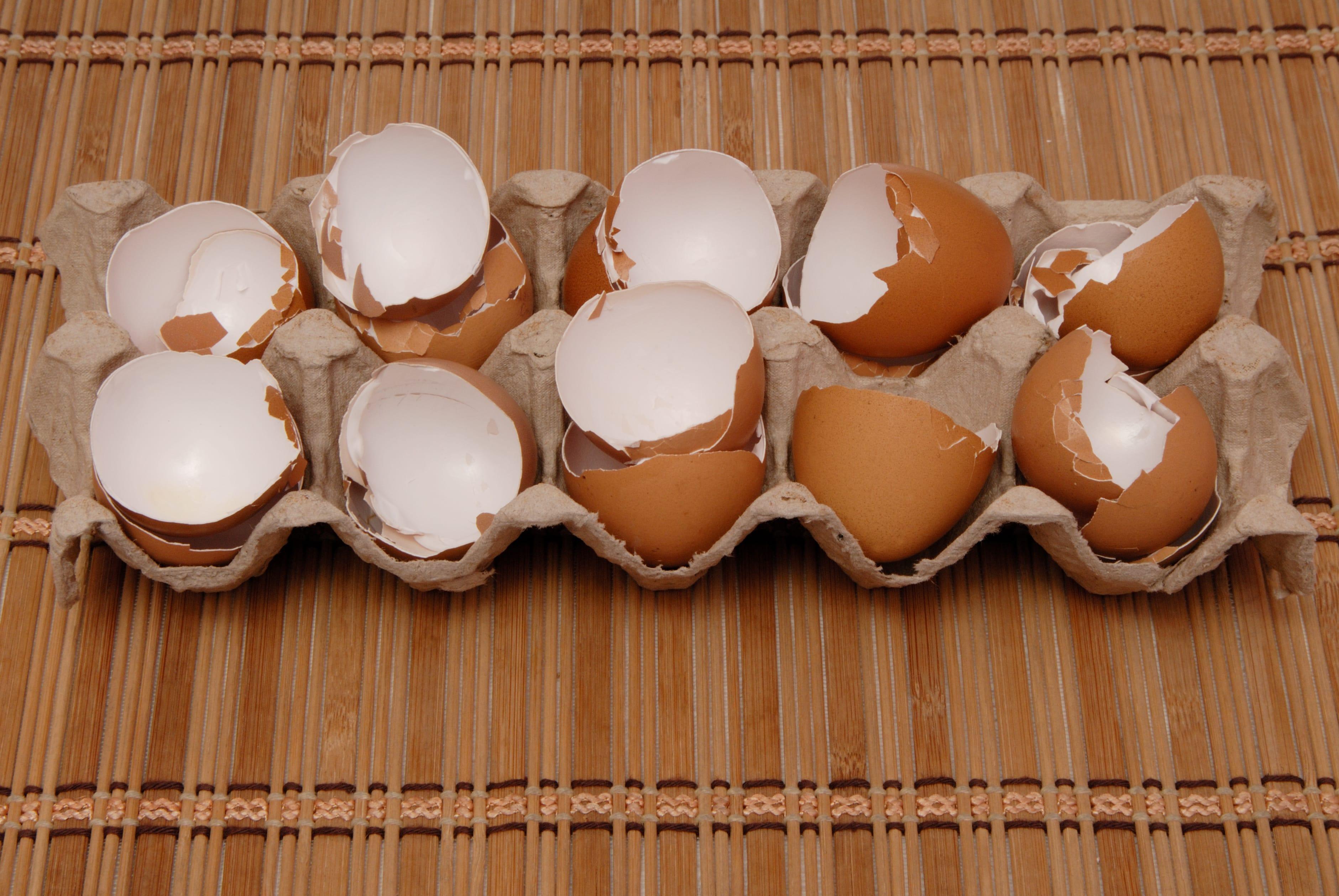 Eierschalen als Aufheller verwenden