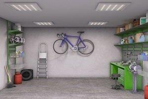 Garagenboden aus Beton.