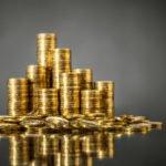 goldmünzen gestapelt