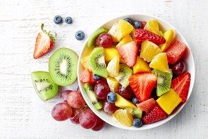 gesundes obst in einer schale