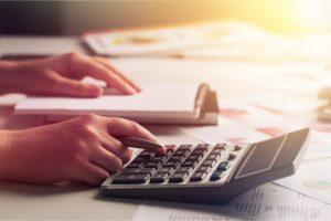 Berechnung des Kreditrahmens mit dem Taschenrechner