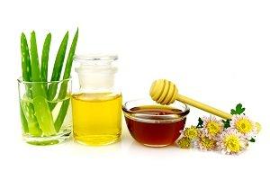Zutaten für Rezepte mit Olivenöl.