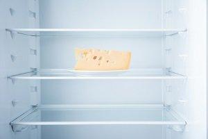 Käse im Kühlschrank.