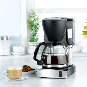 kaffeemaschine mit voller kanne