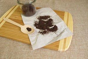 Getrockneter Kaffeesatz.