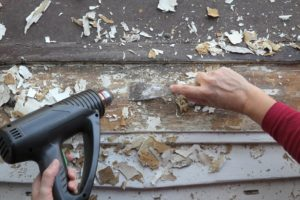 remove paint from wood, metal or plastic