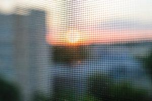 Moskitonetz an Fenster
