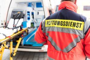 rettungsdienst und krankenwagen