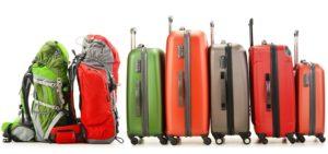 unterschiedliche Reisetaschen und Koffer