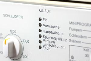 Waschmaschine mit Schleuderprogramm.