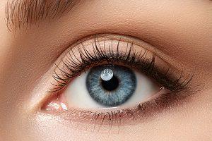Auge mit Wimpern.